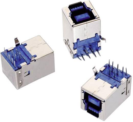USB 3.0 B típus, fekvő, WR-COM Alj, beépíthető, vízszintes Würth Elektronik Tartalom: 1 db