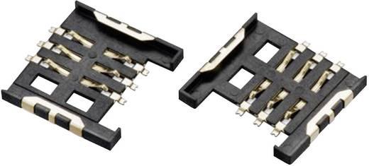 SIM kártyafoglalat, WR-CRD Pólusszám: 6 Würth Elektronik 693010010601