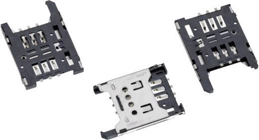 SIM kártyafoglalat (mini SIM) fedéllel Pólusszám: 6 Würth Elektronik Tartalom: 1 db