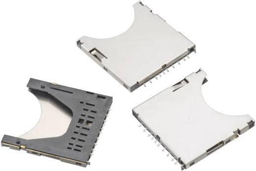 SD kártyafoglalat, Push & Push, kártyafelismerés, 9 tüskés, WR-CRD Pólusszám: 9 Würth Elektronik Tartalom: 1 db