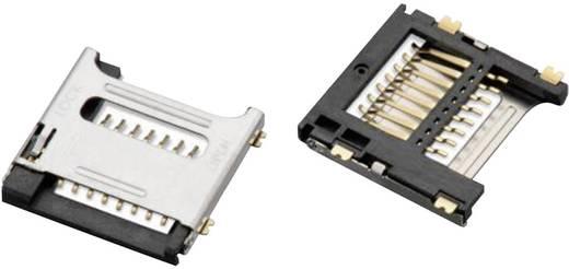 Mikro SD kártyafoglalat fedéllel, 8 tüskés, WR-CRD Pólusszám: 8 Würth Elektronik Tartalom: 1 db