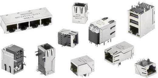 RJ45 beépíthető hüvely, vízszintes, 8 pólus, nikkelezett, fémes, Würth Elektronik 74990111217 1 db