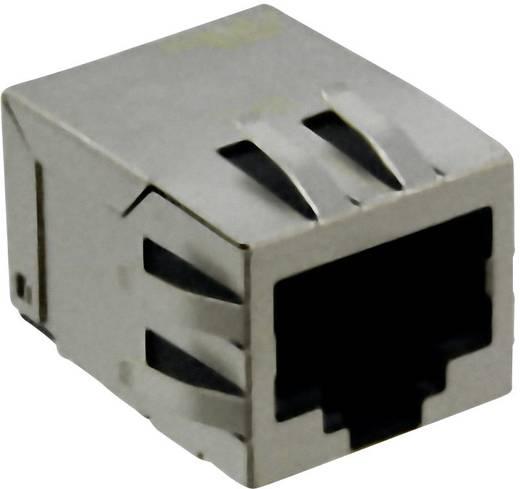 RJ45 beépíthető hüvely, függőleges, 8 pólus, nikkelezett, fémes, Würth Elektronik 7498011001A 1 db
