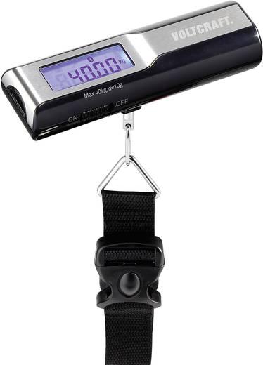 Bluetoothos koffermérleg 40 kg/10 g, fekete, VOLTCRAFT BLS-40