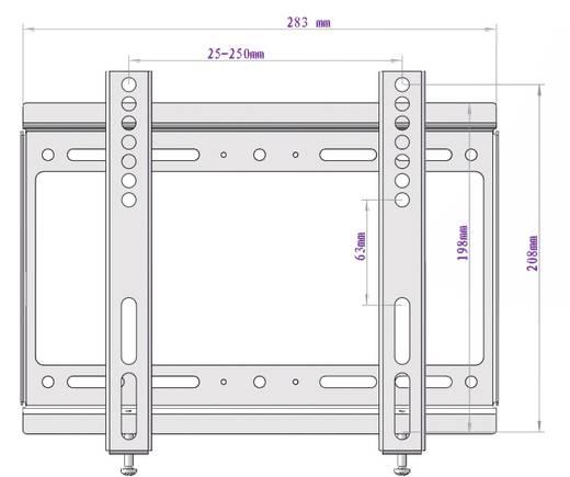 """TV fali tartó konzol, extra vékony, fix, VESA szabvány 35,6 - 106,7 cm (14"""" - 42"""") SpeaKa Professional Slim Fix"""