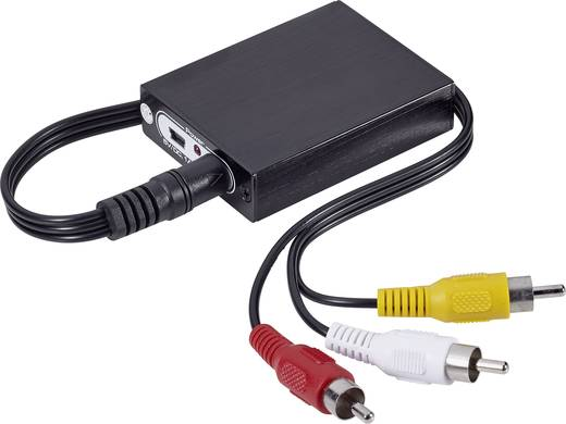 HDMI / RCA AV Konverter [1x HDMI alj 3x RCA dugó] 1920 x 1080 Pixel fekete SpeaKa Professional