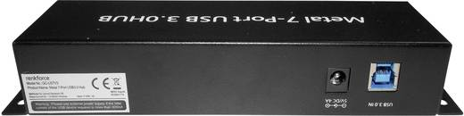 USB 3.0 hub, fém, kapcsolható, 7 portos, Renkforce