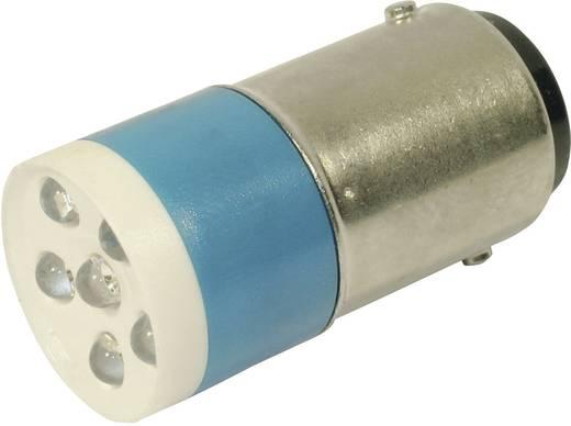 LED lámpa BA15d Kék 24 V/DC, 24 V/AC 860 mcd CML