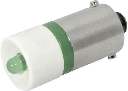 LED lámpa BA9s Zöld 230 V/AC 450 mcd CML