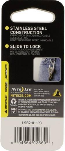 NITE Ize Dupla karabíner, 2-es méret, fekete, S-Biner SideLock NI-LSB2-01-R3 SideLock S-Biner 2