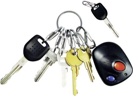 Kulcskarika, ezüst színű, 6 db S-Biner karabínerrel NI-KRGS-11-R3 KeyRing NITE Ize
