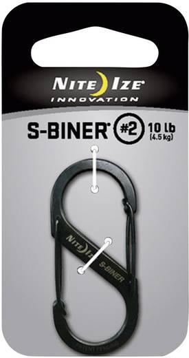 NITE Ize Dupla karabíner, 2-es méret, fekete, S-Binner NI-SB2-03-01 S-Biner 2-es méret