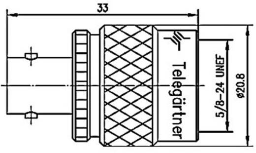 BNC adapter BNC aljzat - N dugó, Telegärtner, J01008C08251 db