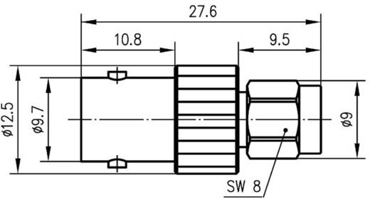 BNC adapter BNC aljzat - SMA dugó, Telegärtner, J01008A00251 db