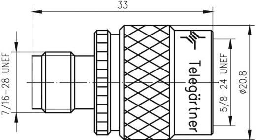 TNC adapter TNC alj - N dugó, Telegärtner, J01019C00071 db