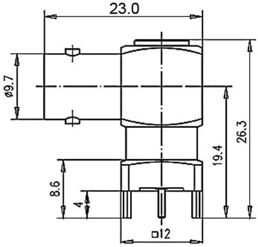 BNC csatlakozó Alj, beépíthető, vízszintes 50 Ω Telegärtner J01001A1948 1 db