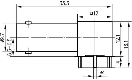 BNC csatlakozó Alj, beépíthető, vízszintes 75 Ω Telegärtner J01003A0030 1 db