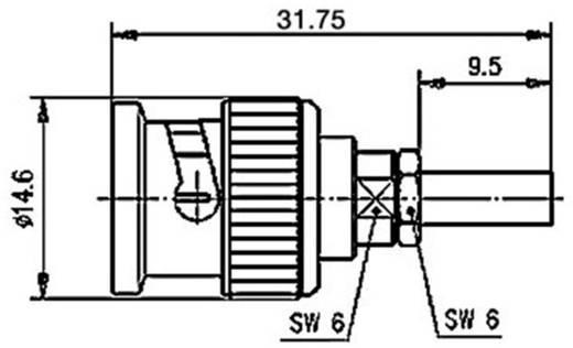 BNC csatlakozó Dugó, egyenes 50 Ω Telegärtner J01000B0018 1 db