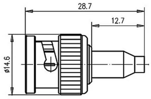 BNC csatlakozó Dugó, egyenes 50 Ω Telegärtner J01000A0040 1 db
