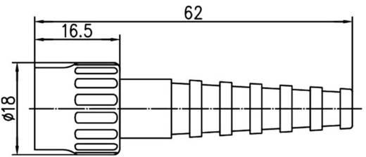 BNC csatlakozó Dugó, egyenes 50 Ω Telegärtner J01000A0014 1 db