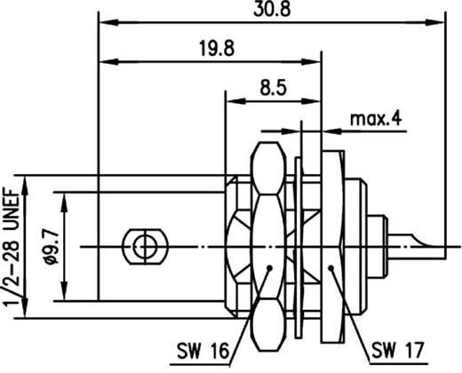 BNC csatlakozó Alj, beépíthető, függőleges 50 Ω Telegärtner J01001A1225 1 db