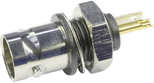 BNC csatlakozó Alj, beépíthető, függőleges 50 Ω Telegärtner J01001D0043 1 db