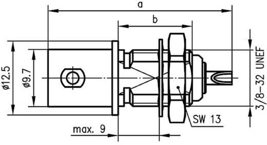 BNC csatlakozó Alj, beépíthető, függőleges 50 Ω Telegärtner J01001A0053 1 db