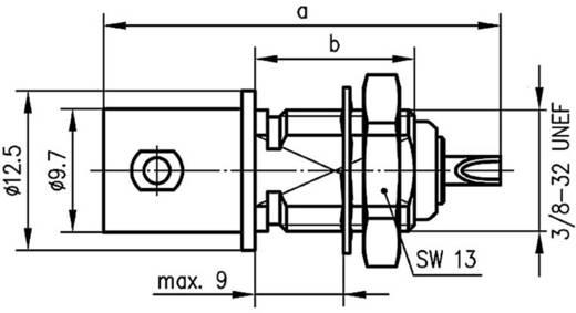 BNC csatlakozó Alj, beépíthető, függőleges 50 Ω Telegärtner J01001B0615 1 db