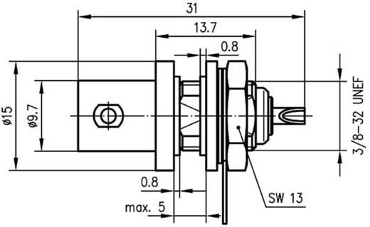 BNC csatlakozó Alj, beépíthető, függőleges 50 Ω Telegärtner J01001A1222 1 db