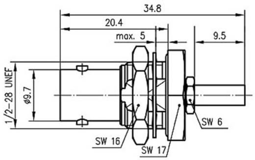 BNC csatlakozó Sasszé alj, egyenes 50 Ω Telegärtner J01001C0028 1 db