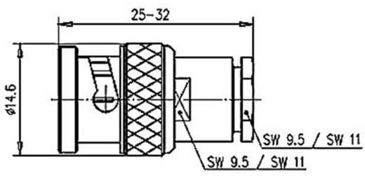 BNC csatlakozó Dugó, egyenes 75 Ω Telegärtner J01002A0609 1 db
