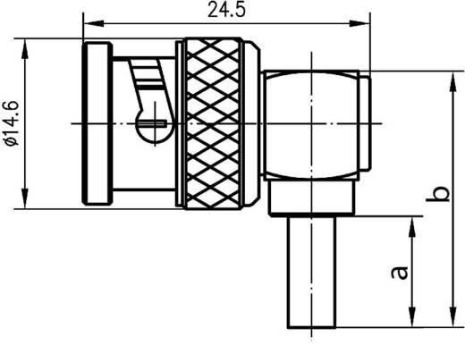 BNC csatlakozó Dugó, hajlított 50 Ω Telegärtner J01000A1257 1 db