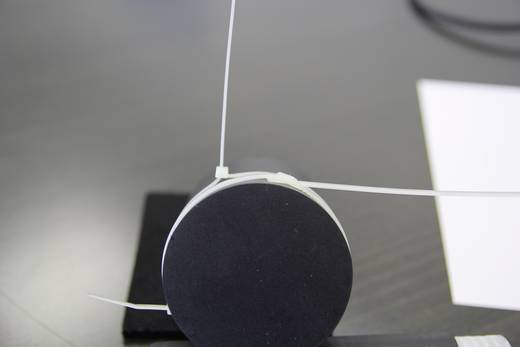 Lapos profilú kábelkötöző (H x Sz) 406 mm x 7.6 mm Szín: Natúr 25 db PB Fastener