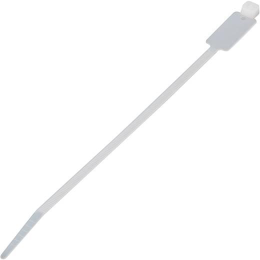 Feliratozható kábelkötözők (H x Sz) 130 mm x 2.5 mm MCV-100L Szín: Natúr 100 db KSS