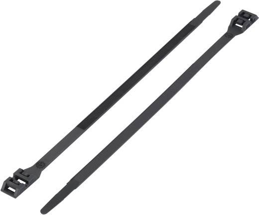 Kettős fejű kábelkötöző (H x Sz) 265 mm x 9 mm DK-265BK Szín: Fekete 1 db KSS