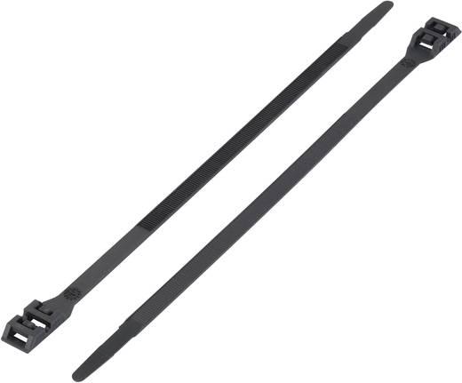 Kettős fejű kábelkötöző (H x Sz) 360 mm x 9 mm DK-360BK Szín: Fekete 1 db KSS