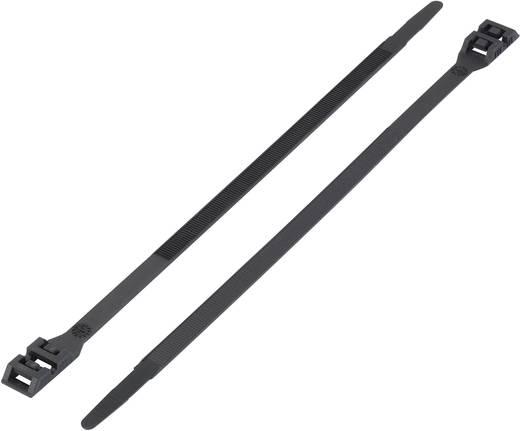 Duplafejű kábelkötegelő 760 x 9 mm, fekete, 1 db, KSS DK-760BK