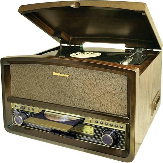 Asztali retro rádió, retro lemezjátszó, USB-s bakelit lemezjátszó beépített digitalizálóval, Roadstar HIF-1937TUMPK
