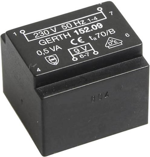 EE 20/10,5 Nyák transzformátor, 230 V / 6 V 83 mA 0,5 VA Gerth