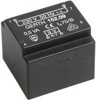EE 20/10,5 Nyák transzformátor, 230 V / 12 V 41 mA 0,5 VA Gerth (PT201201) Gerth