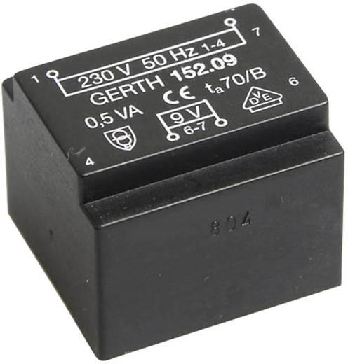EE 20/10,5 Nyák transzformátor, 230 V / 2 x 9 V 27 mA 0,5 VA Gerth