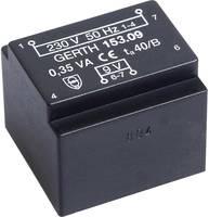 EE 20/10,5 Nyák transzformátor, öko kivitel, 230 V / 15 V 23 mA 0,35 VA Gerth (PTE201501) Gerth