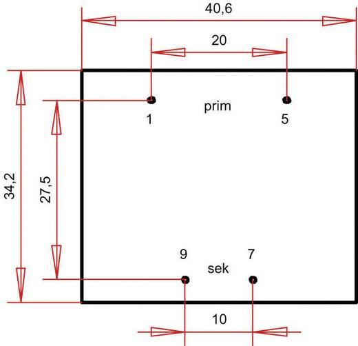 EI 38/13,6 Nyák transzformátor, 230 V / 6 V 600 mA 3,6 VA Gerth