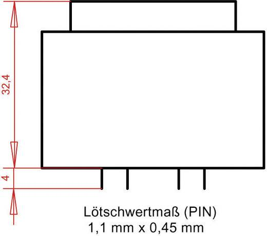 EI 42/14,8 Nyák transzformátor, 230 V / 2 x 4.5 V 533 mA 4,8 VA Gerth