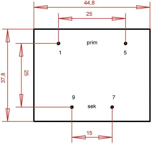 EI 42/20 Nyák transzformátor, 230 V / 24 V 333 mA 8 VA Gerth
