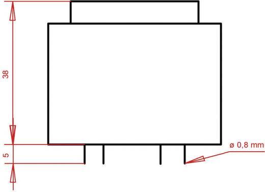 EI 42/20 Nyák transzformátor, 230 V / 2 x 4.5 V 888 mA 8 VA Gerth
