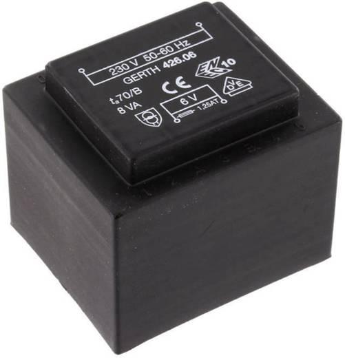 EI 42/20 Nyák transzformátor, 230 V / 2 x 7,5 V 533 mA 8 VA Gerth