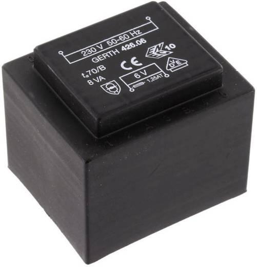 EI 42/20 Nyák transzformátor, 230 V / 2 x 12 V 333 mA 8 VA Gerth