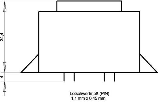 EI 48/16,8 Nyák transzformátor, peremmel, 230 V / 2 x 7,5 V 666 mA 10 VA Gerth