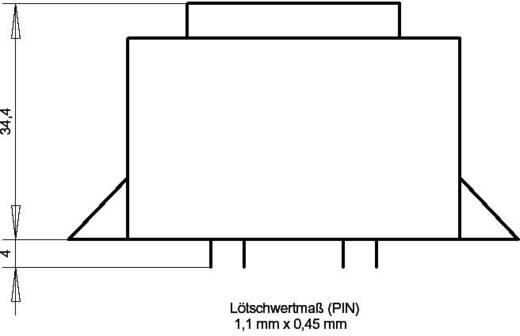 EI 48/16,8 Nyák transzformátor, peremmel, 230 V / 2 x 9 V 555 mA 10 VA Gerth